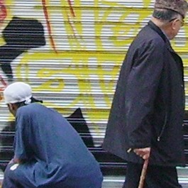 graffeur, rue, passant, americain, style, store