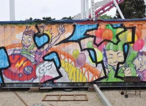Graff, graphe, foire, trône , fête foraine, décoration , loisirs, divertissement