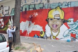 Mur,graff, graffiti, art, tag, tagueur , fresque, décoration, Paris, street art, graffiti dans la rue des pyrénées
