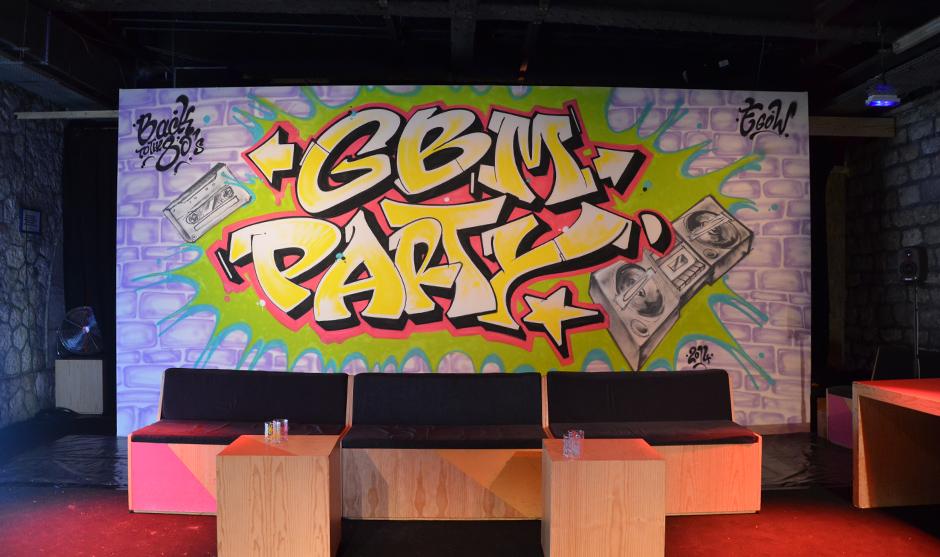 toile graffiti événementielle éphémère