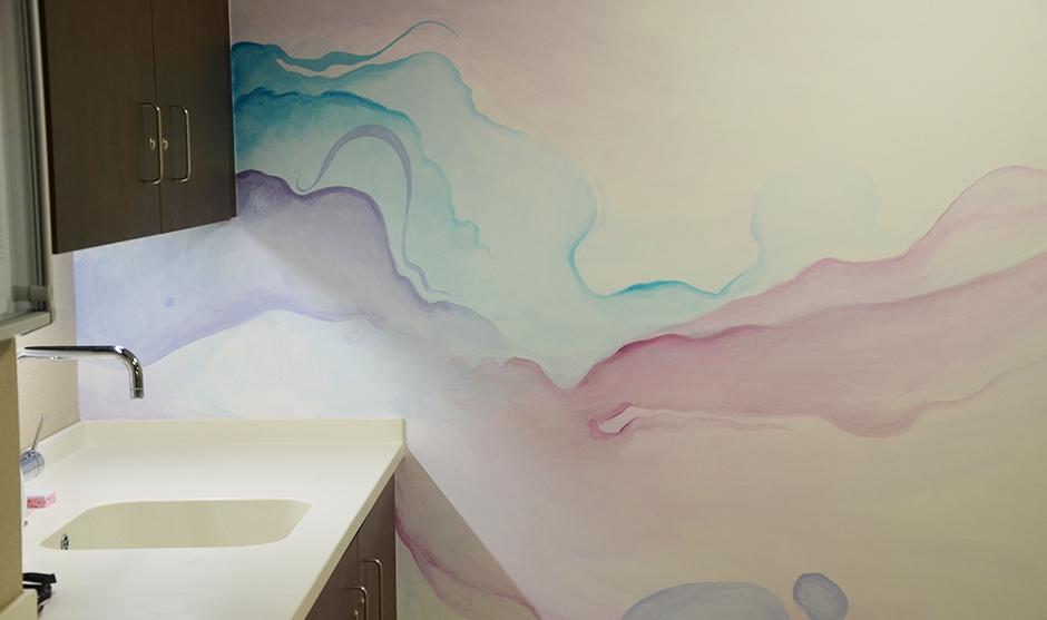 Dans la staffroom du SPA, l'eau est au coeur de la création.