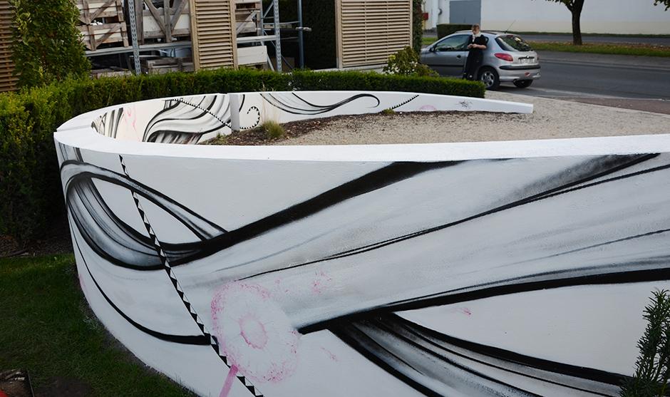 Fresque graffiti street art, décorateur, architecte extérieur