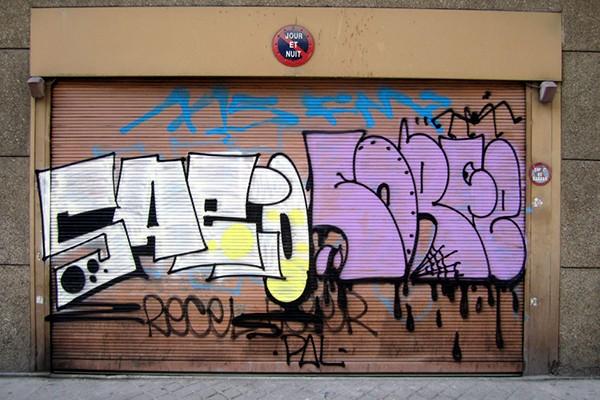 Exemples de créations graffiti dans la mouvance ignorante style