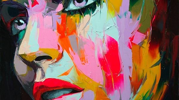 La sensualité des personnages peint par Françoise Nielly est souvent très explicite