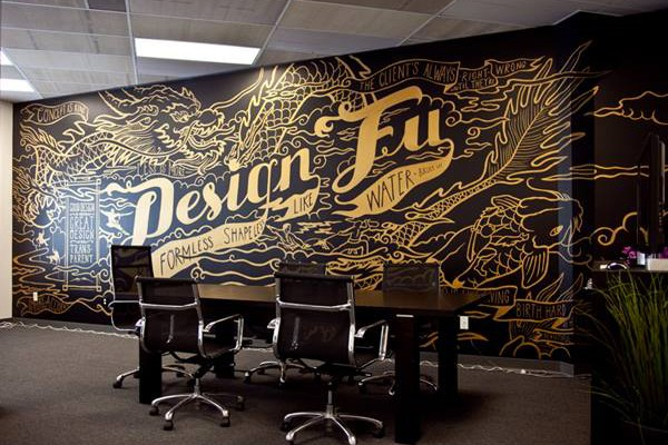Studio de design de Seattle décoré