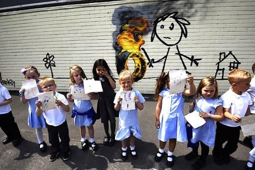 dessin d'enfants et graffiti street art
