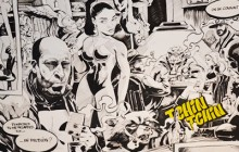 célébrité, bande dessinée, noir et blanc, moderne, décoration