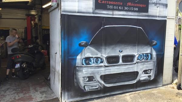 graffiti, garage, tunning, graff, graph, porte, bmw
