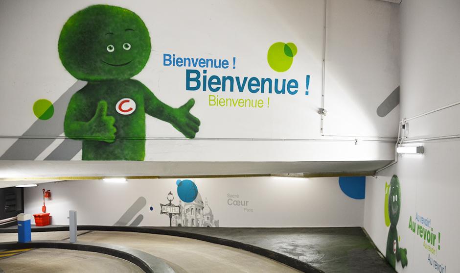 representation graffiti peinture bombe mascotte Cetelem