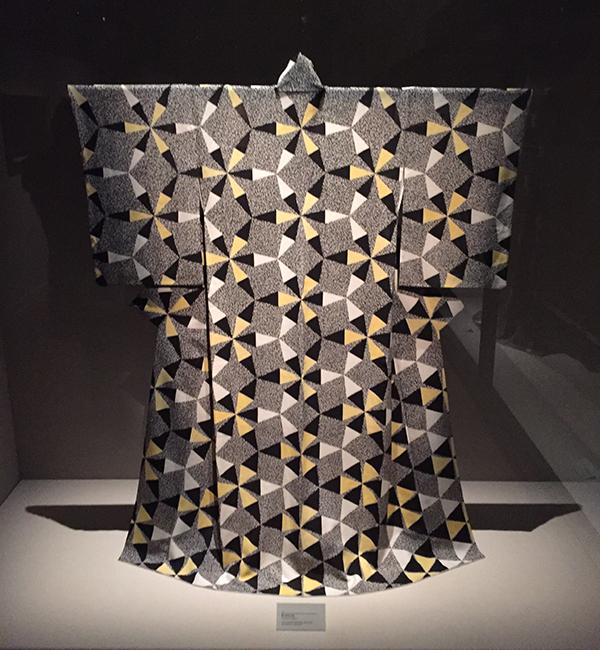 Kimono peint de Kunihiko Moriguchi vu de face