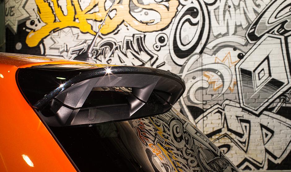 Fresque graffiti, aileron, véhicule, automobile, opération, Renault, street, urbain