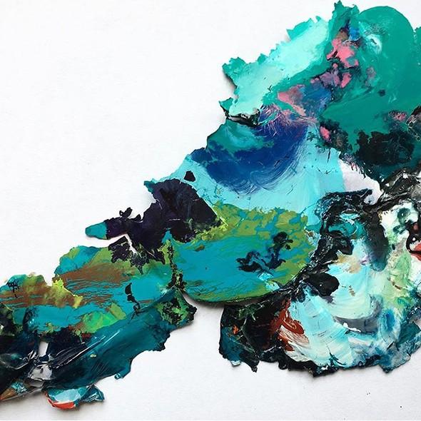 organique, couleurs, texture, vert, bleu, turquoise, contrastes, rose