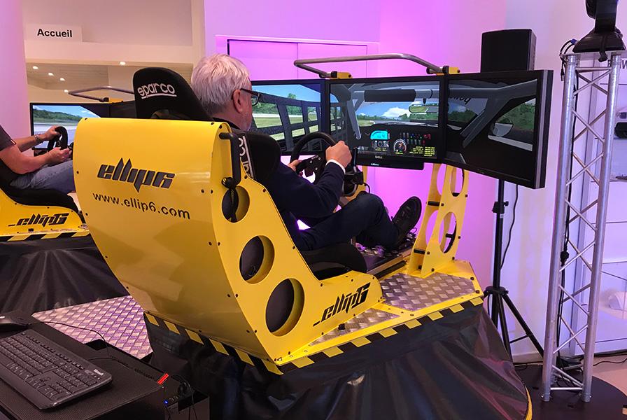simulation, véhicule, machine, démonstration