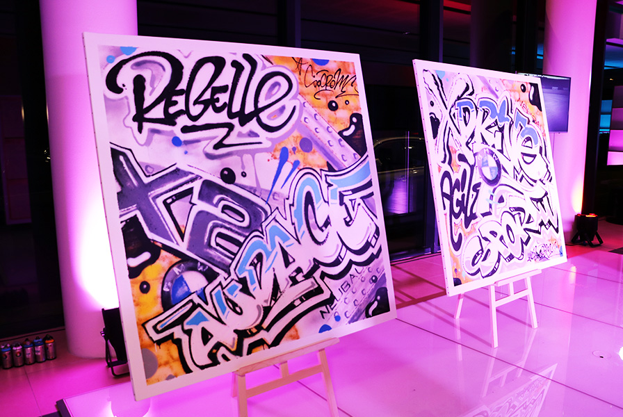 toiles, graffiti, art, performance live, BMW X2