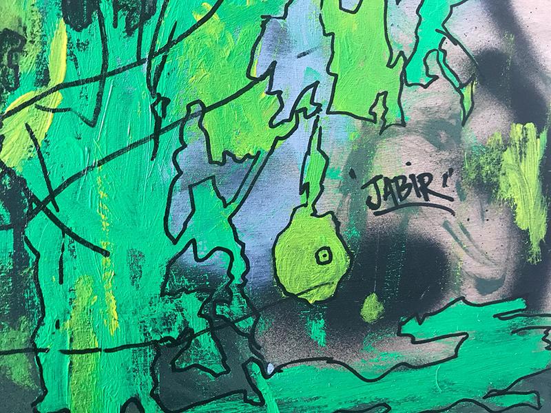 fresque abstraite, graffuturism, sabir, art