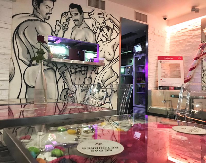 décoration, bar, thématique, gay, communauté, paris, fun