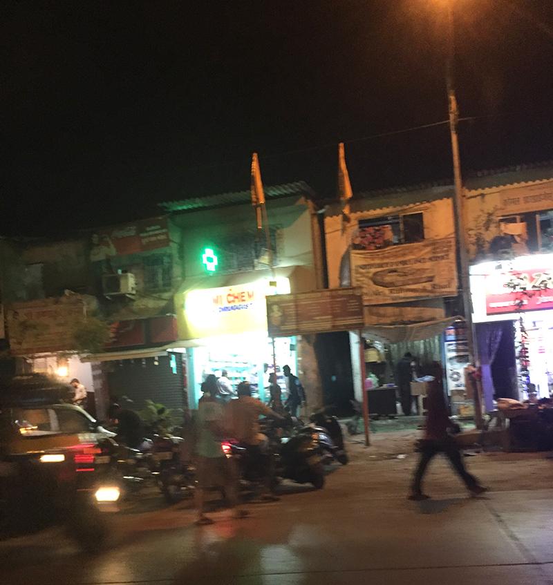 Rue, populaire, commerçante, ville, bombay, quartier, boutiques