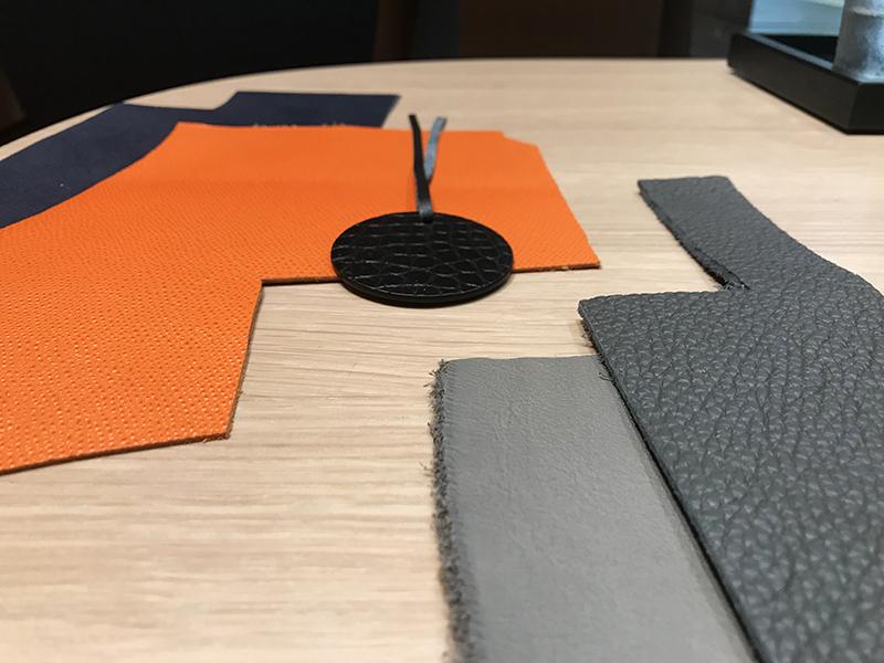 teintes, textures cuir, couleur, matières