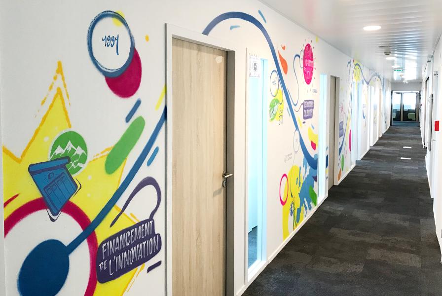 décoration bureaux, paris, art, street, graffiti, couleurs