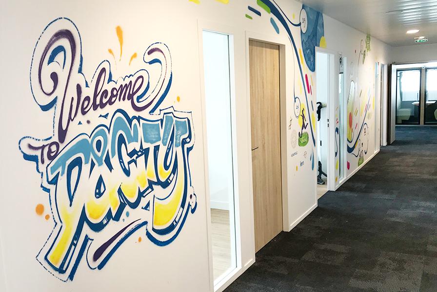 Welcome, D&City, Graffiti, Graff, Art, Street art, décoration