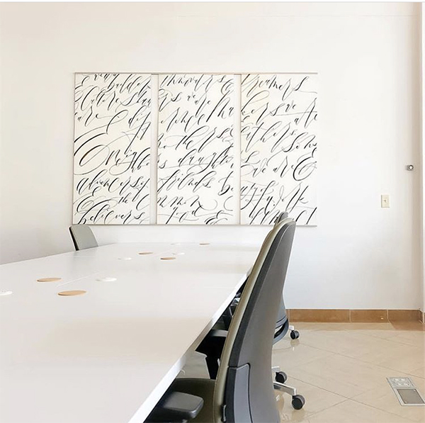 toile, calligraphie, triptyque, paris, graffiti