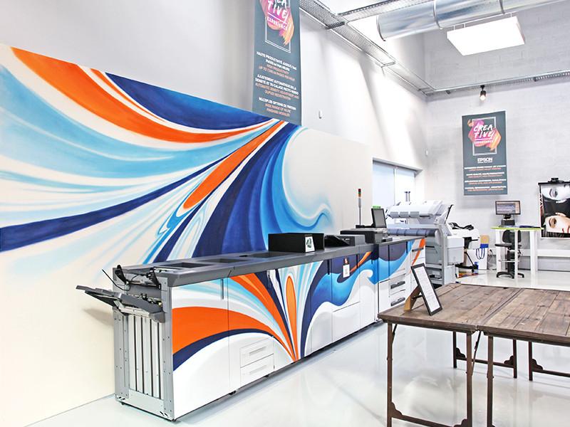 Konica, Minolta, Imprimeur, professionnel, impression, couleur, abstrait, graphisme, graphiste