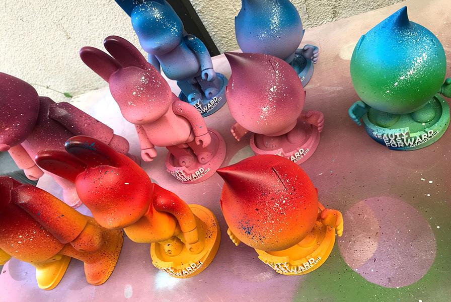 Art toys personnalisés, bombes, peinture, couleurs, arts