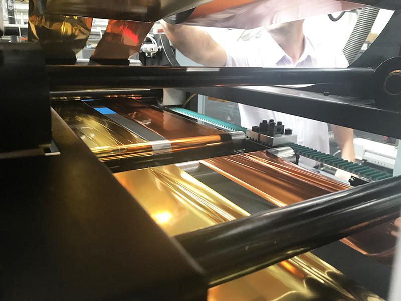 bobine, doré, cuivre, art, imprimerie