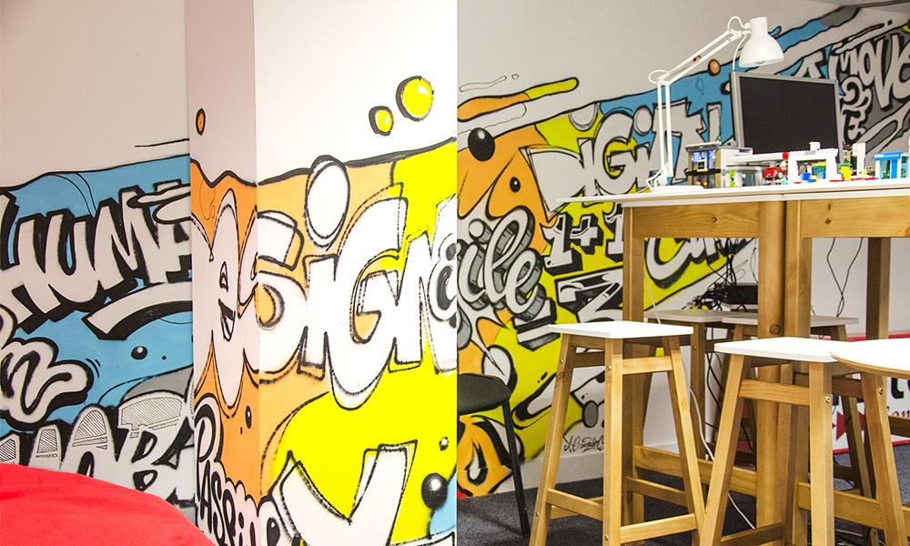 fresque graffiti, innovation, originale, décoration, art, créativité