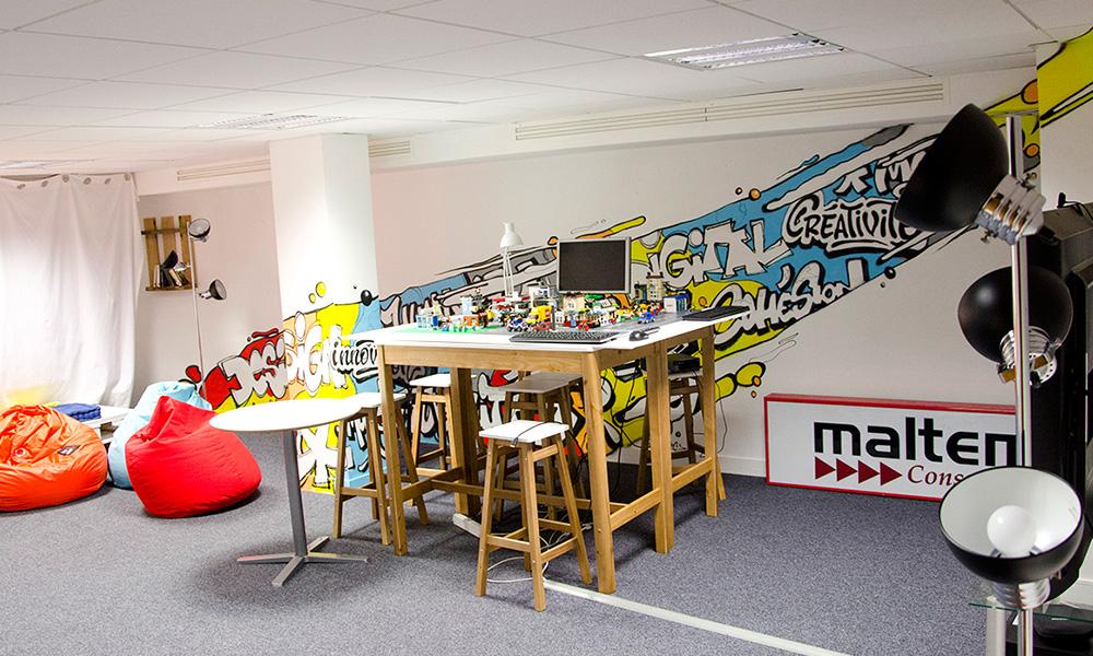 Pièce, salle, créative, innovation, idée, réunion, salle de vie
