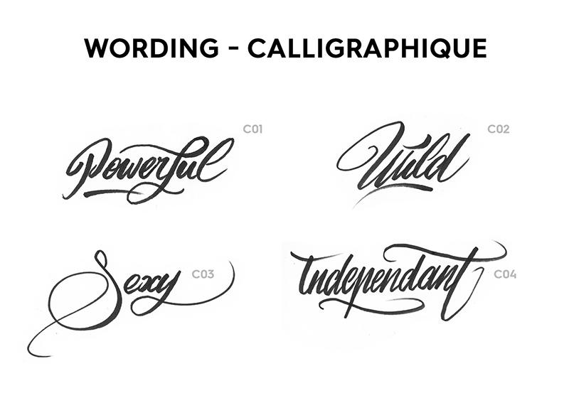 Style, calligraphique, classique, simple