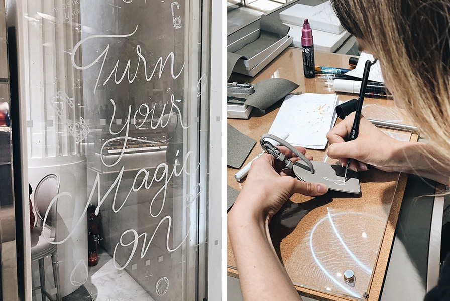 calligraphie, handlettering,typographie, cuir