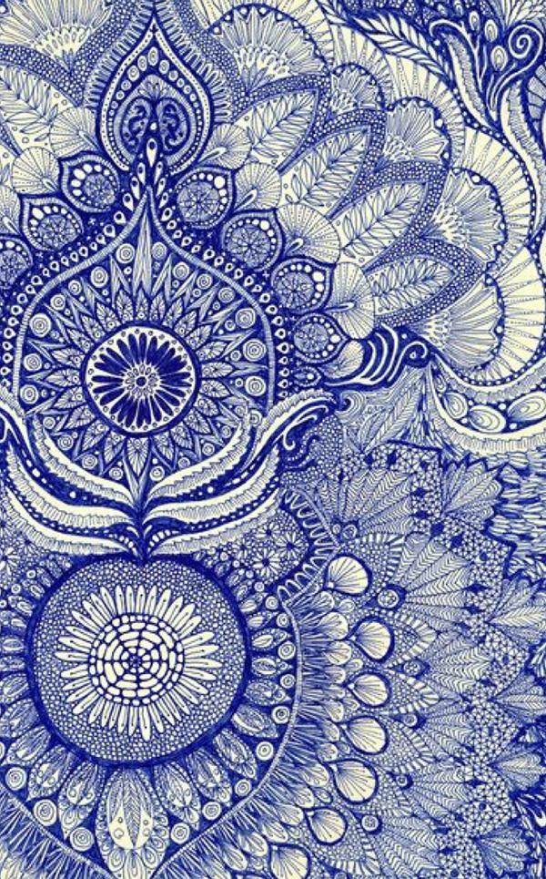 details, motifs, travaillé, soigné, finesse, bleu