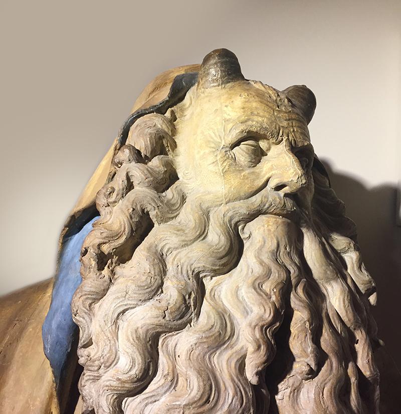 détails, sculpture, renaissance, art, Homme, barbu
