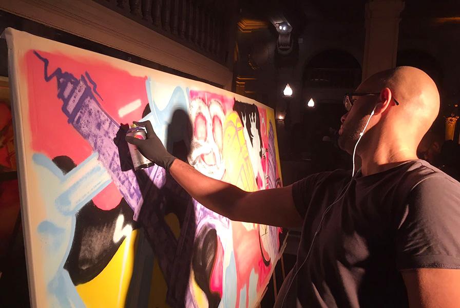 performance, graffiti, art, street, live, spectacle