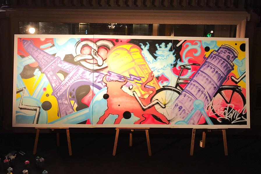 street art, graffiti, monument, Europe, Paris, Mise, Londres