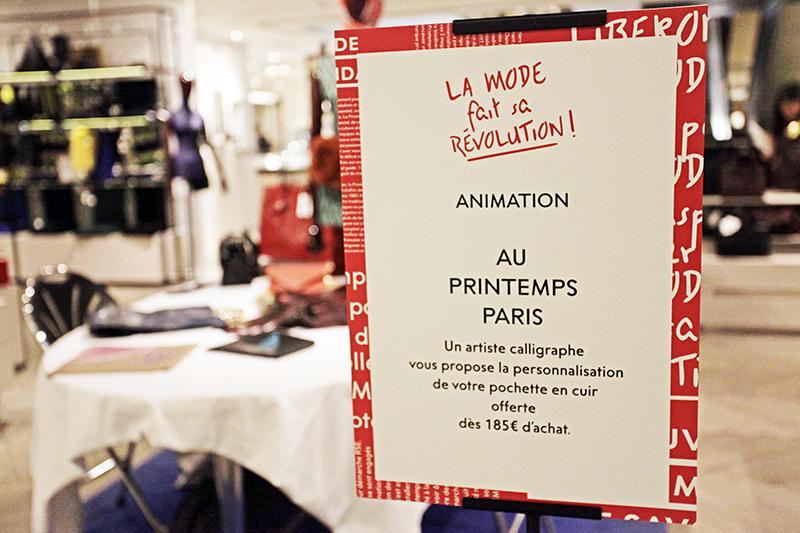 Mode, révolution, Printemps, Paris, Animation, Calligraphie