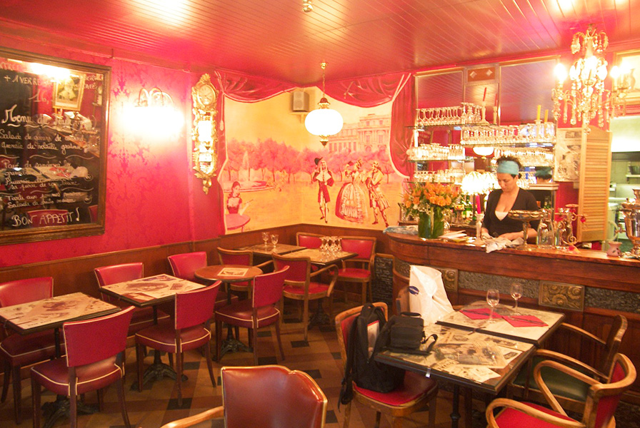 restaurant fresque, trompe l'oeil, fresque murale