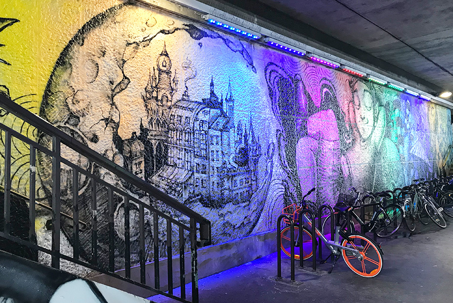 Deco, décoration, mur , graffiti, rue broca