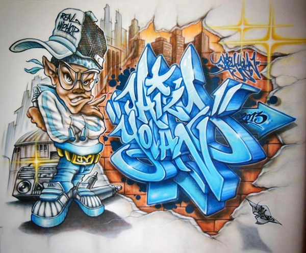 décoration, graffiti, chambre, enfant, paris