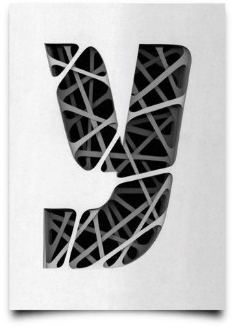 Superposition, effet, typographie, art, noir et blanc