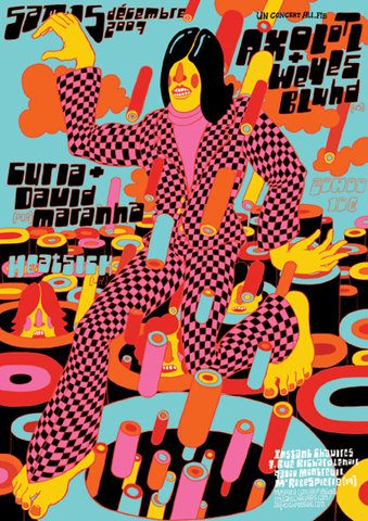 affiche, concert, musique, art, graphisme, graphic design, illustration