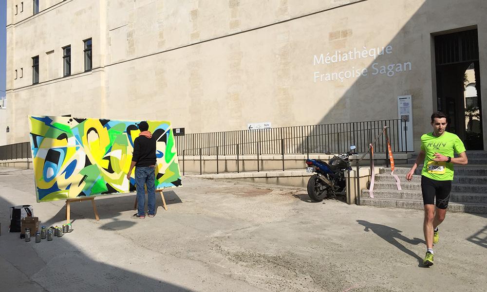 Street Art devant la médiathèque Françoise Sagan