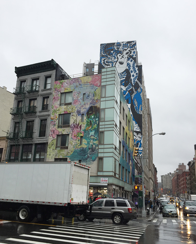 fresques, murales, muralistes, street art, graffiti, façade, New York