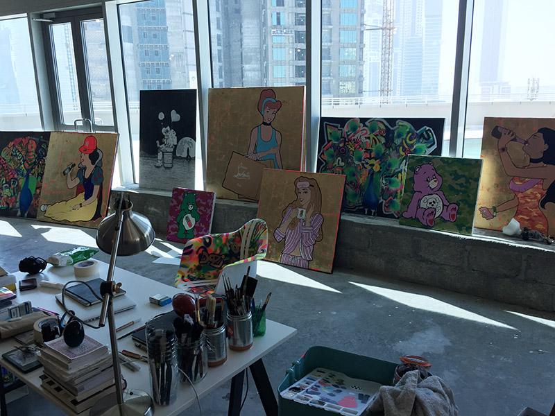 Dozi, dream, street artiste, personnages, art, illustration, Moyen Orient