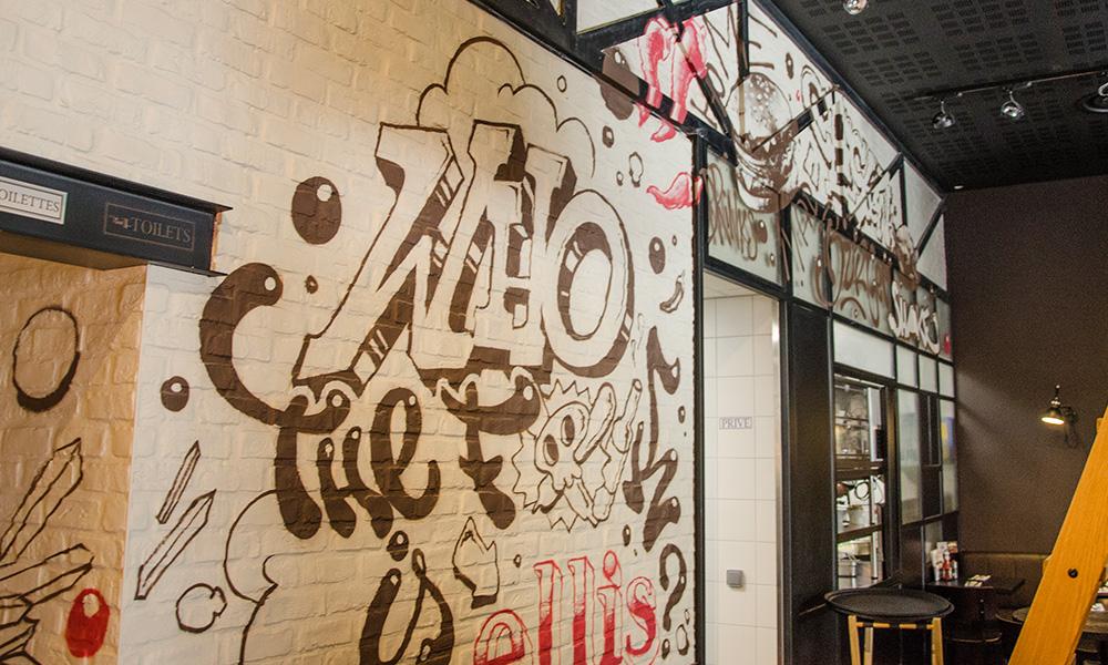 locaux, Ellis, Gourmet, burger, Paris, art, street art
