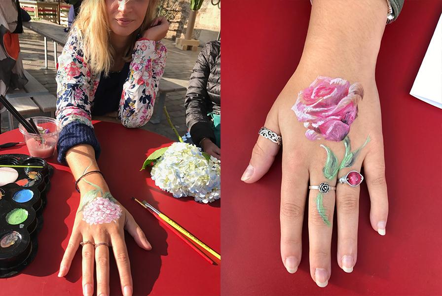 tattoo, fleurs, rouse, pivoine, création.