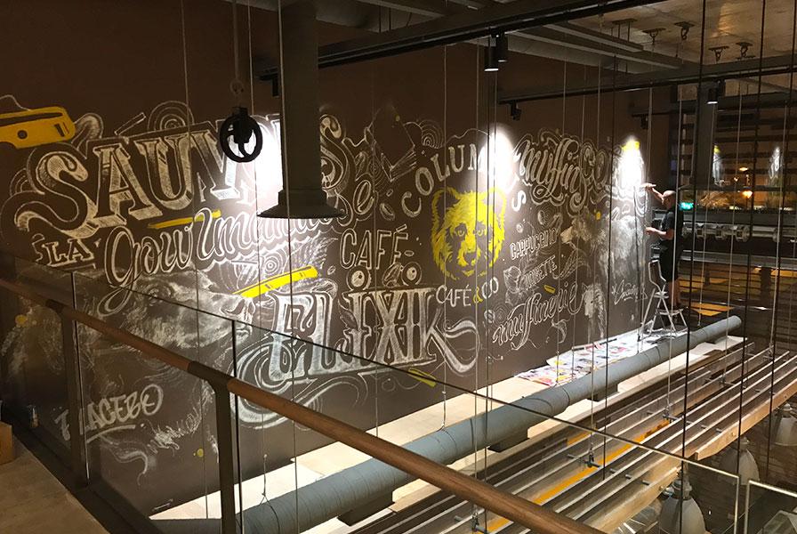 Colombus, Café & Co, Rabat, Franchise, Maroc, Typographie