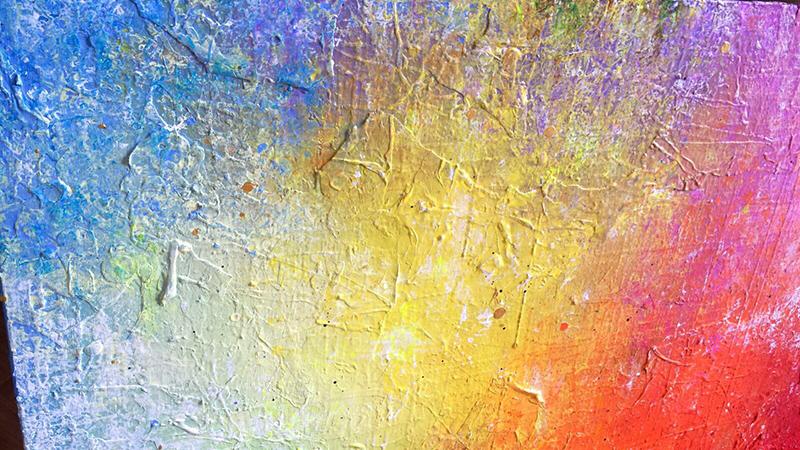 toile multicolore, bonus, arc en ciel