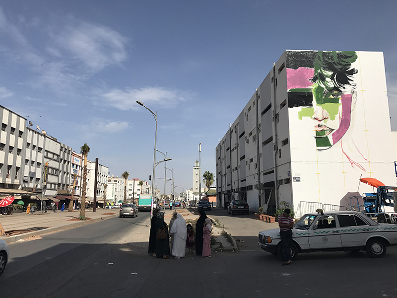 Street art, avenue, casablanca, sidi bernoulli, maroc
